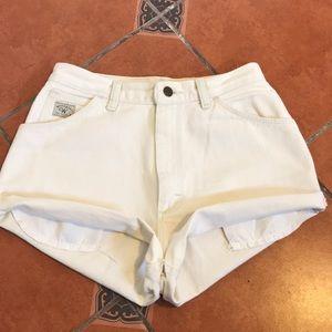 Wrangler Vtg High Waist WHITE Jean Shorts